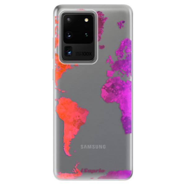Odolné silikonové pouzdro iSaprio - Warm Map - Samsung Galaxy S20 Ultra