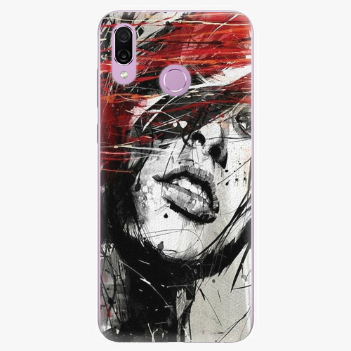 Silikonové pouzdro iSaprio - Sketch Face - Huawei Honor Play