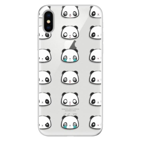 Silikonové pouzdro iSaprio - Panda pattern 01 - iPhone X