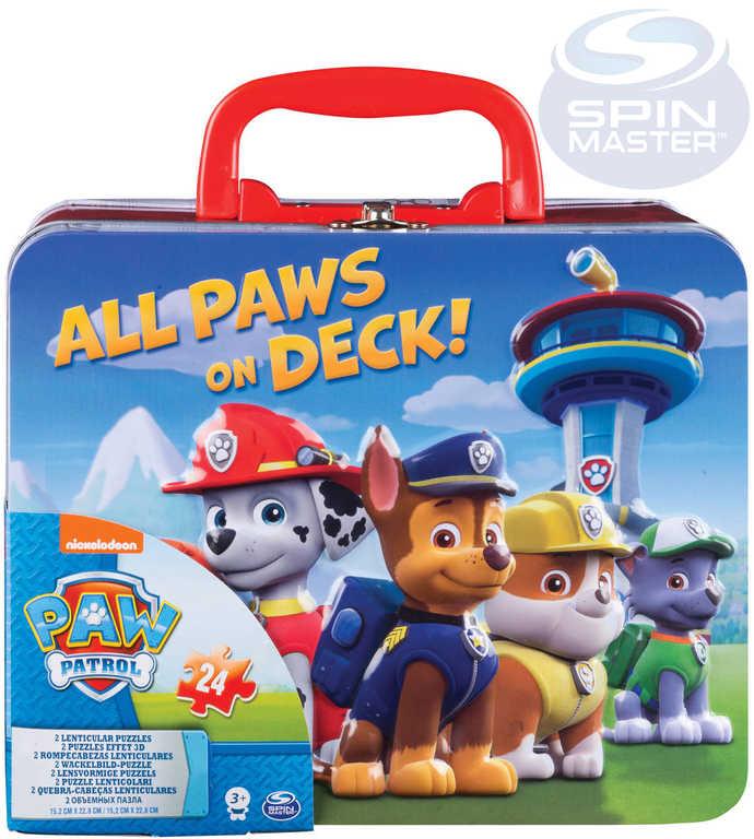 SPIN MASTER Puzzle 3D 2v1 Tlapková Patrola 40 dílků v plechovém kufříku