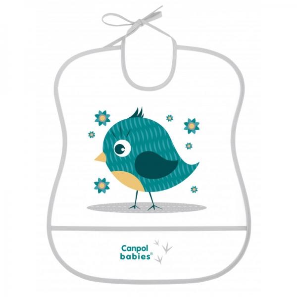 Plastový bryndák s kapsičkou Cute Animals - Ptáček