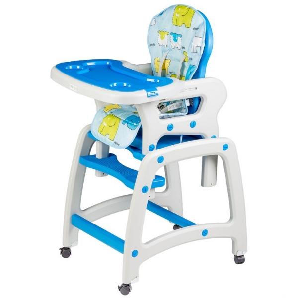 Eco toys Jídelní stoleček 2v1 - modrý