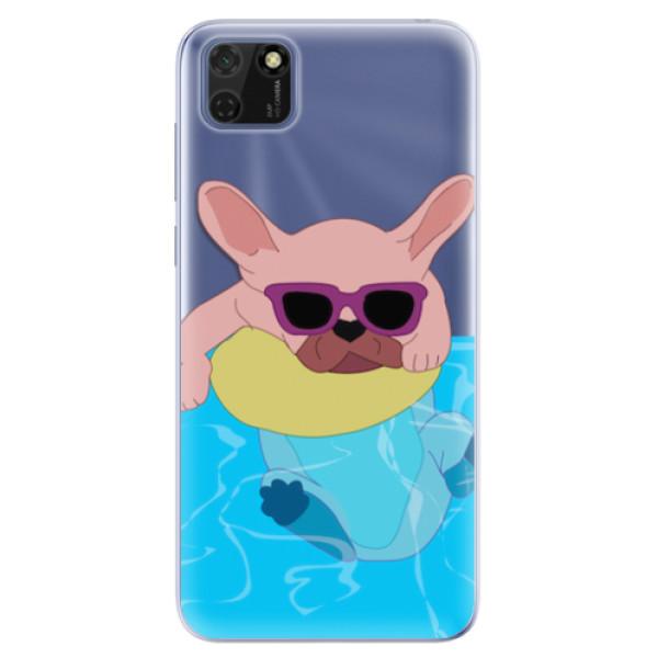 Odolné silikonové pouzdro iSaprio - Swimming Dog - Huawei Y5p