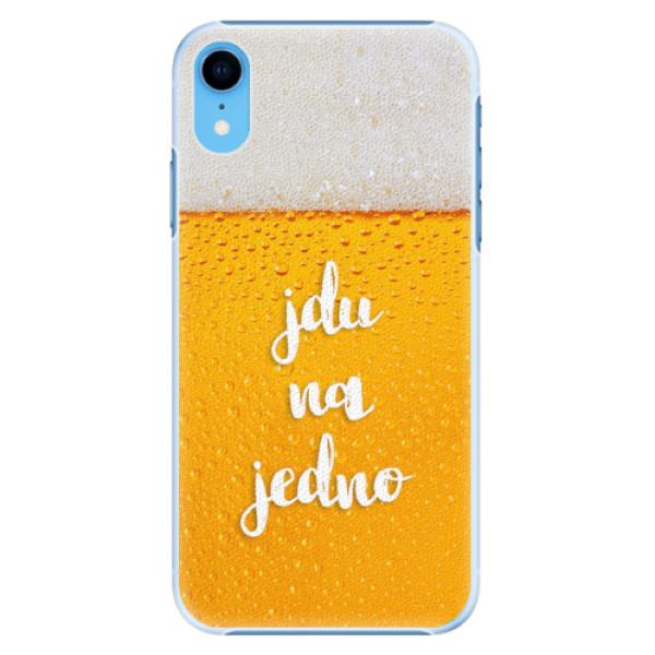 Plastové pouzdro iSaprio - Jdu na jedno - iPhone XR
