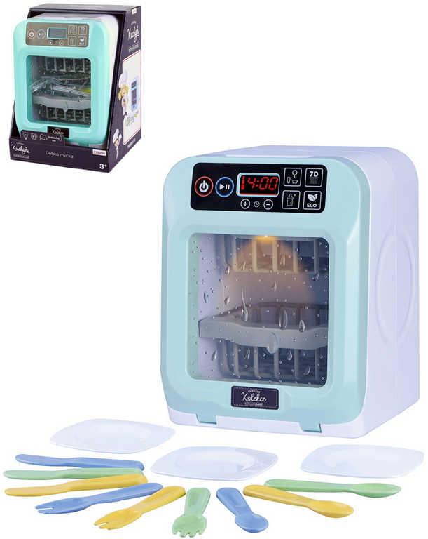 Myčka dotykový panel luxusní kolekce na baterie set s nádobím Světlo Zvuk