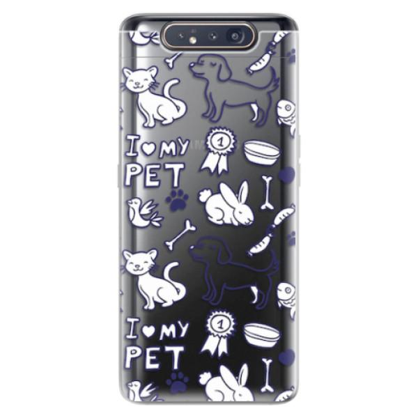 Odolné silikonové pouzdro iSaprio - Love my pets - Samsung Galaxy A80