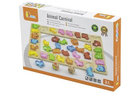 Dřevěná hra - karneval zvířátek