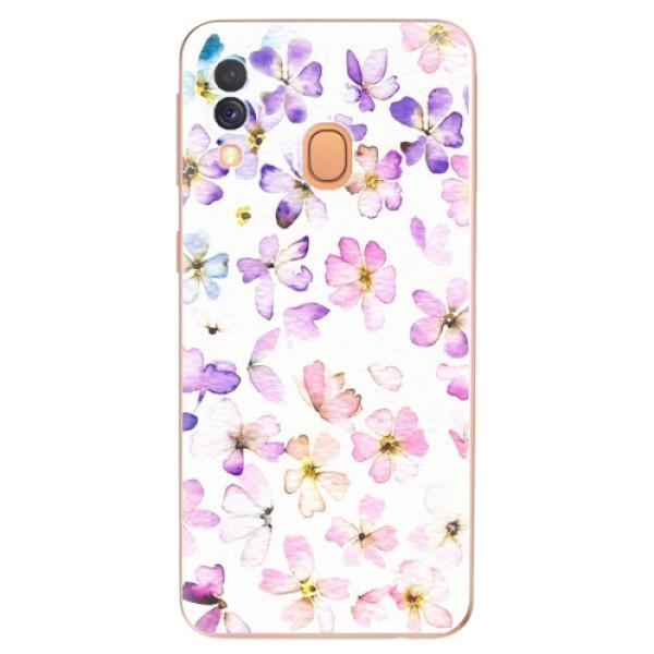 Odolné silikonové pouzdro iSaprio - Wildflowers - Samsung Galaxy A40