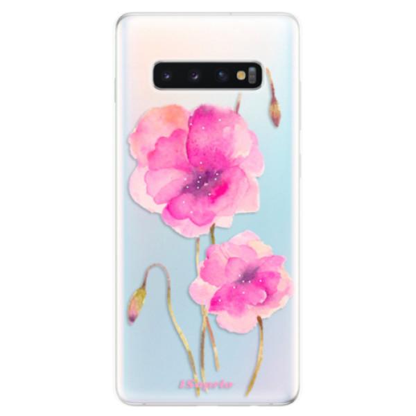 Odolné silikonové pouzdro iSaprio - Poppies 02 - Samsung Galaxy S10+