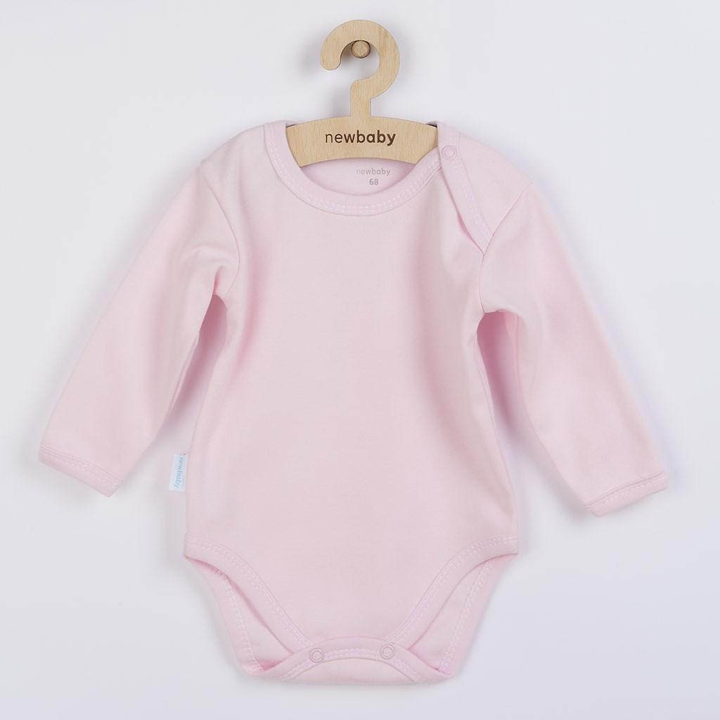Kojenecké body s dlouhým rukávem New Baby Pastel