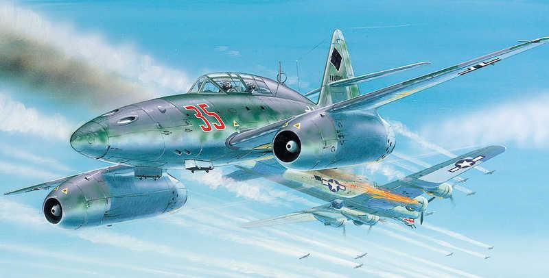 SMĚR Model letadlo Messerschmitt Me 262 1:72 (stavebnice letadla)