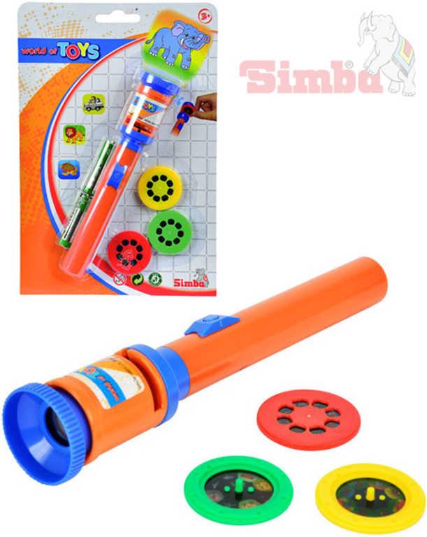 SIMBA Projektor mini 19 cm na baterie