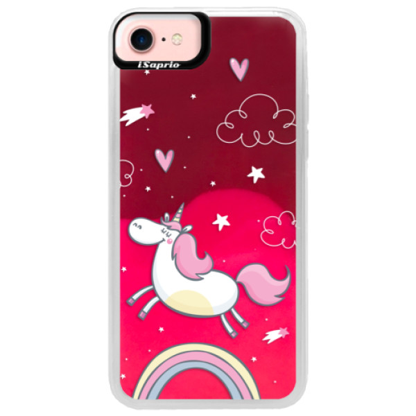 Neonové pouzdro Pink iSaprio - Unicorn 01 - iPhone 7