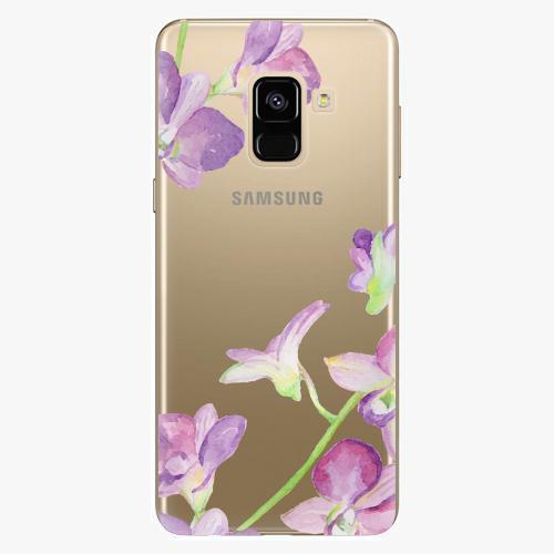 Plastový kryt iSaprio - Purple Orchid - Samsung Galaxy A8 2018
