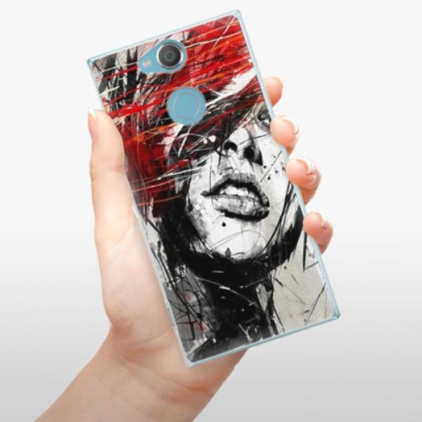 Plastové pouzdro iSaprio - Sketch Face - Sony Xperia XA2