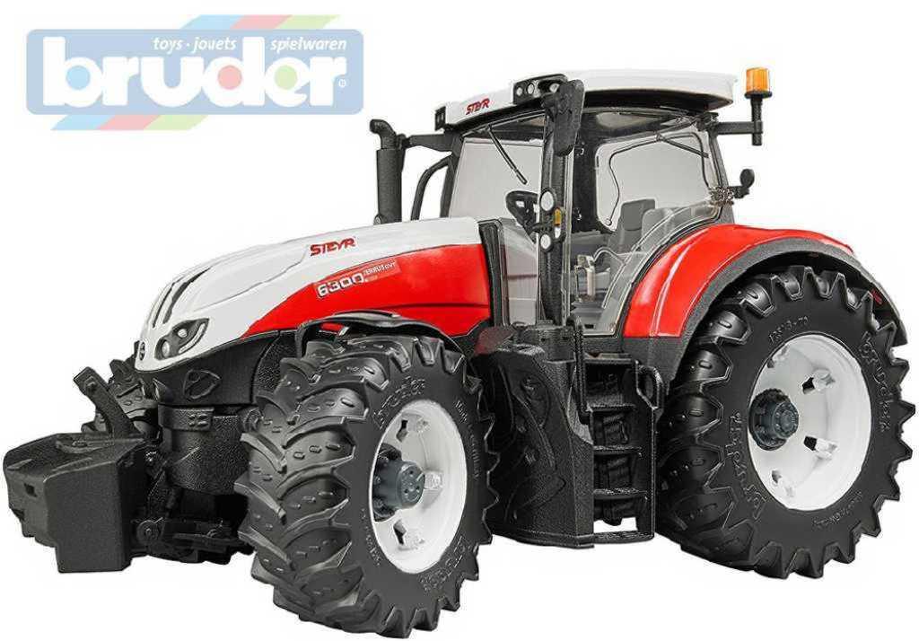 BRUDER 03180 (3180) Traktor STEYR 6300 Terrus funkční model 1:16 plast