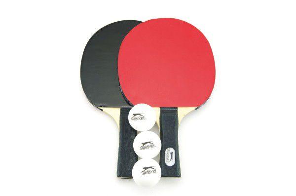 Sada stolní tenis 2ks pálky + 3 míčky v tašce 26x17cm