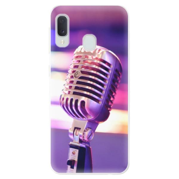 Odolné silikonové pouzdro iSaprio - Vintage Microphone - Samsung Galaxy A20e