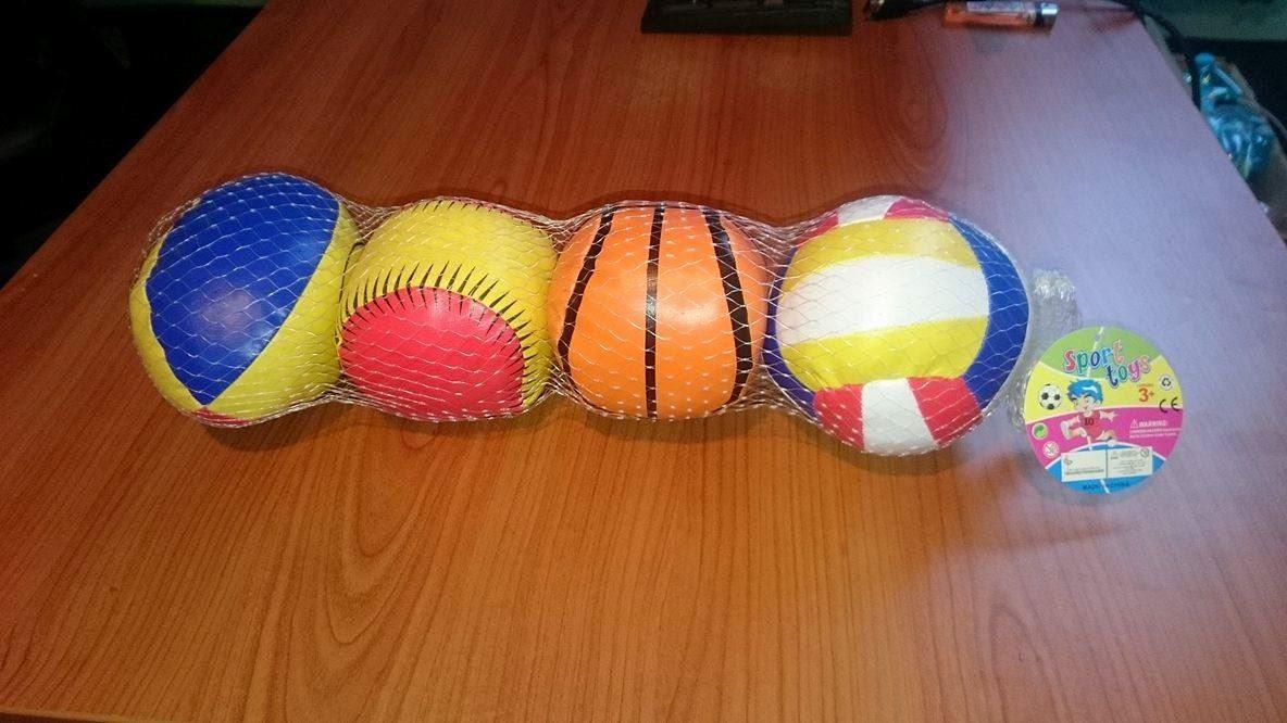 Sada sportovních mini míčků 4 ks