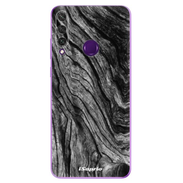 Odolné silikonové pouzdro iSaprio - Burned Wood - Huawei Y6p