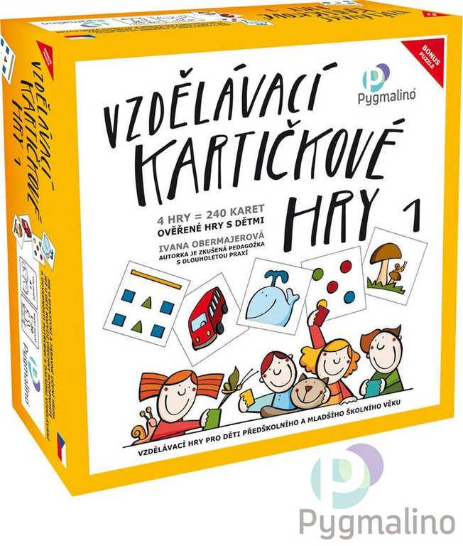 PYGMALINO Vzdělávací kartičkové hry 4v1 v krabici