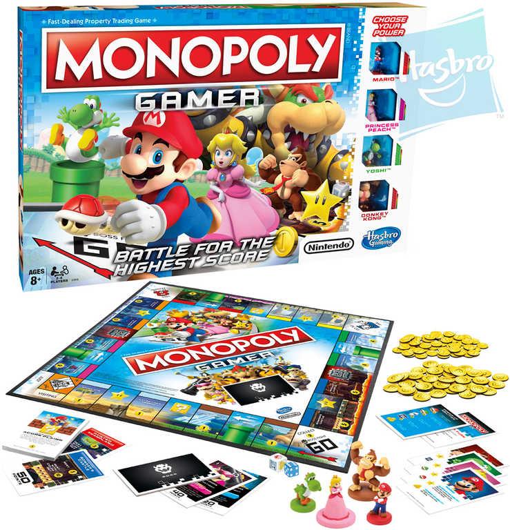 HASBRO Hra MONOPOLY Gamer CZ hrdinové počítačových her *SPOLEČENSKÉ HRY*