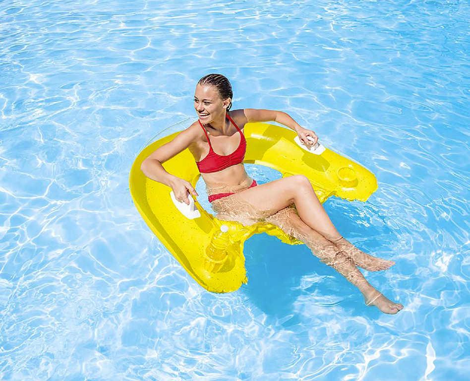 INTEX Sedátko na vodu nafukovací 152x99cm s úchyty 58859 2 barvy