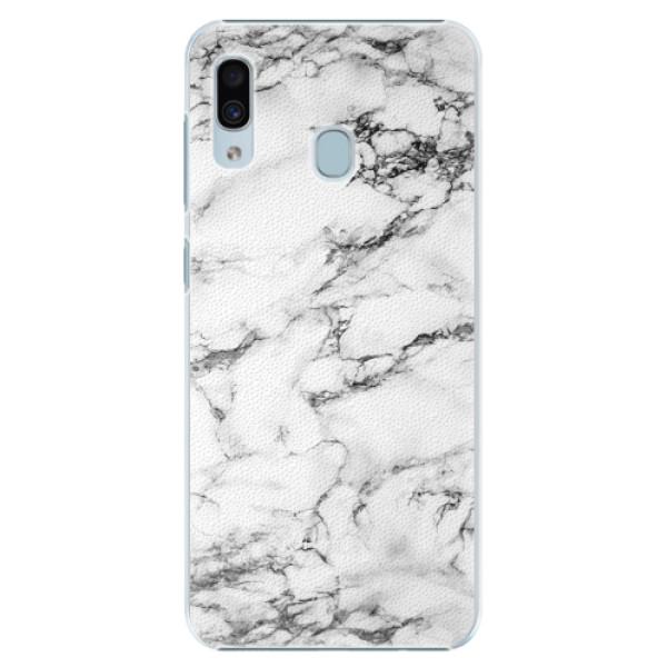 Plastové pouzdro iSaprio - White Marble 01 - Samsung Galaxy A30