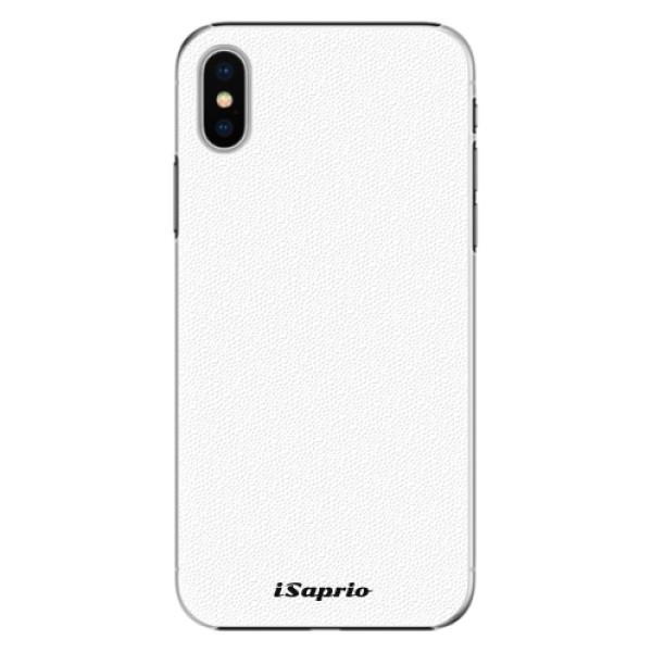 Plastové pouzdro iSaprio - 4Pure - bílý - iPhone X
