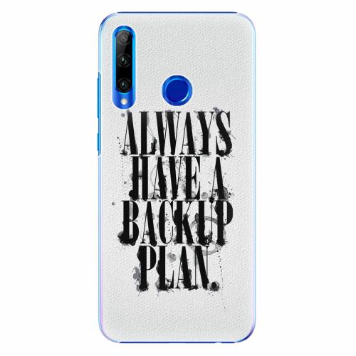 Plastový kryt iSaprio - Backup Plan - Huawei Honor 20 Lite