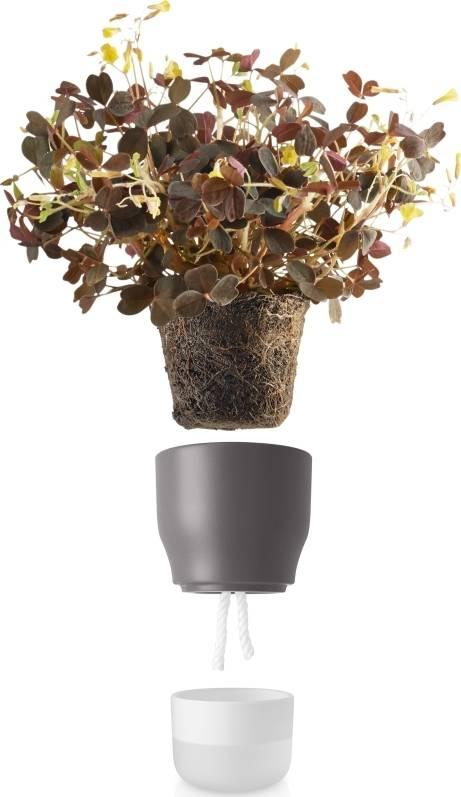 Samozavlažovací květináč křídově šedý v.13cm, 568152 eva solo