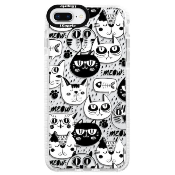 Silikonové pouzdro Bumper iSaprio - Cat pattern 03 - iPhone 8 Plus