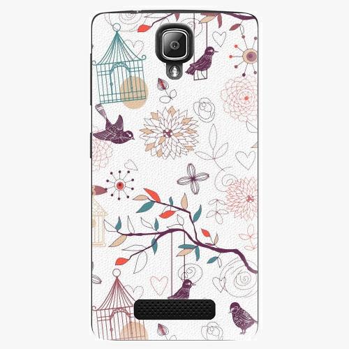 Plastový kryt iSaprio - Birds - Lenovo A1000