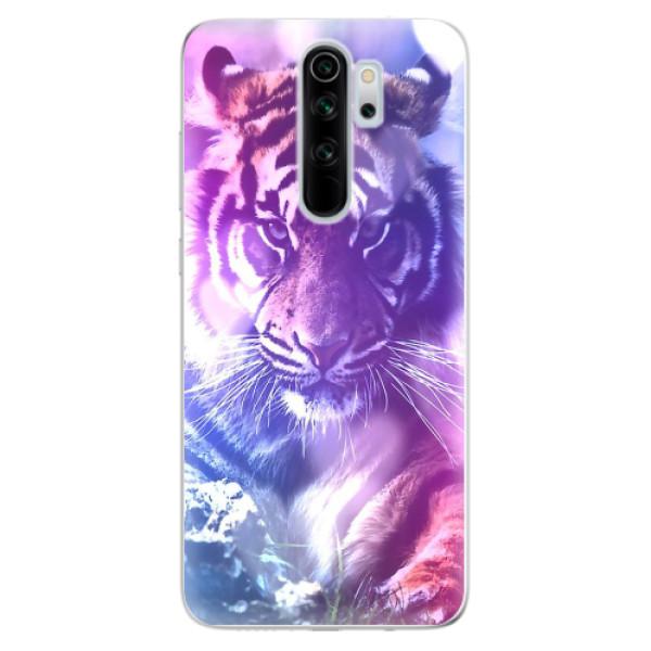 Odolné silikonové pouzdro iSaprio - Purple Tiger - Xiaomi Redmi Note 8 Pro
