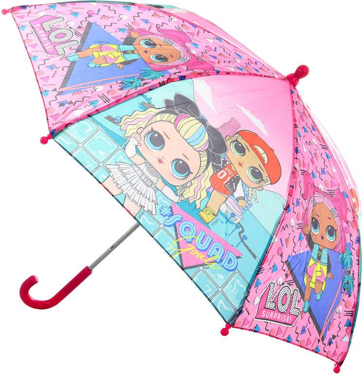 L.O.L. Surprise deštník holčičí 66x55cm s LOL panenkami manuální otevírání
