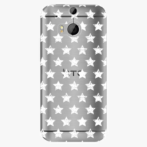 Plastový kryt iSaprio - Stars Pattern - white - HTC One M8