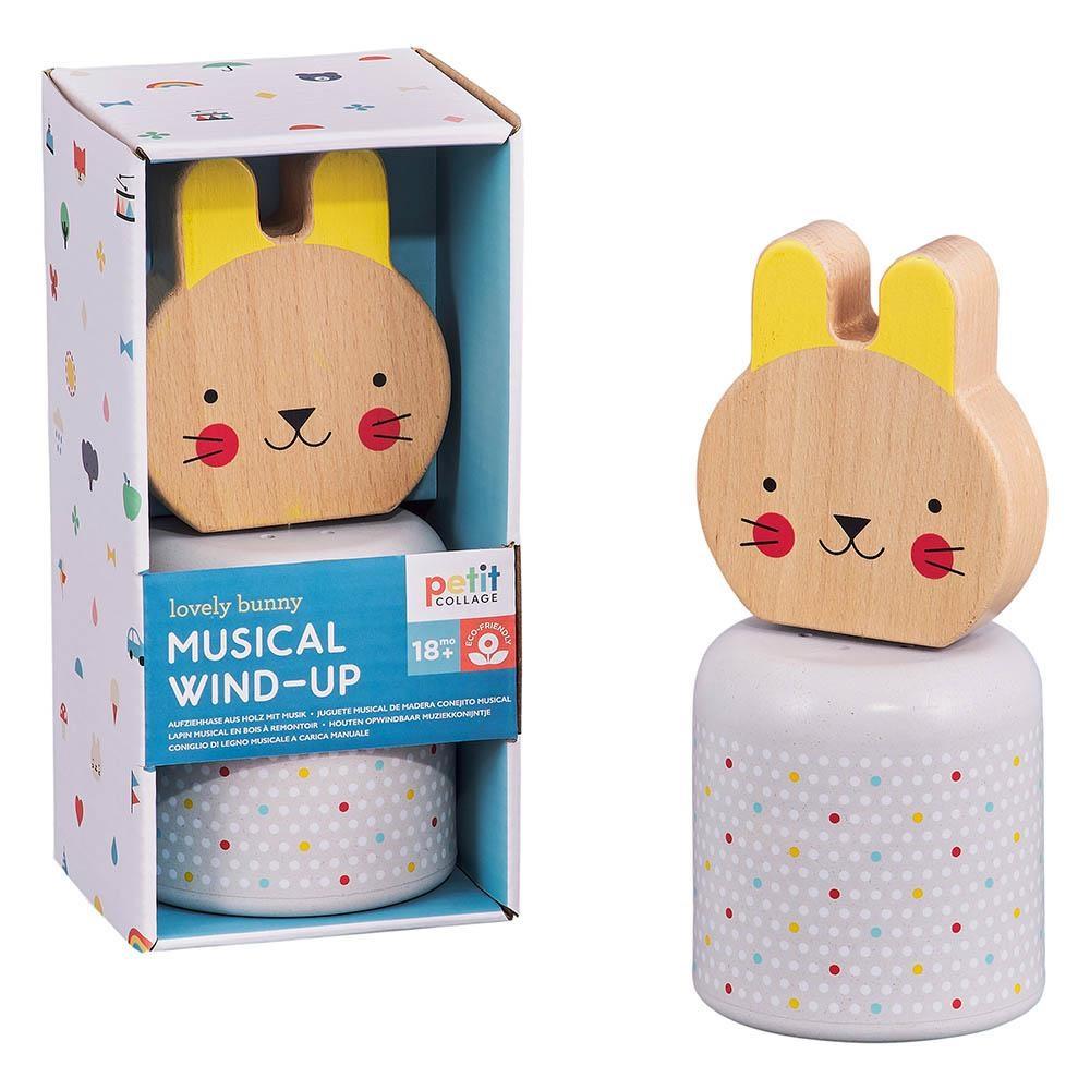 Petit Collage Dřevěná hrací postavička Zajíček