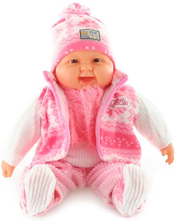 Panenka miminko velké holčička 52cm růžový obleček měkké tělíčko