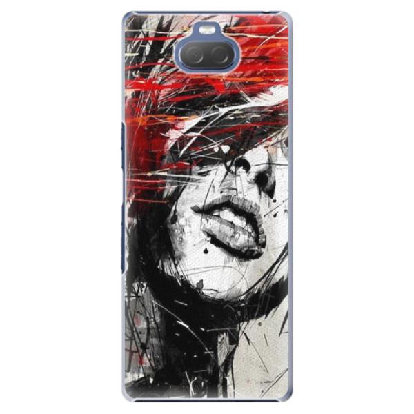 Plastové pouzdro iSaprio - Sketch Face - Sony Xperia 10 Plus
