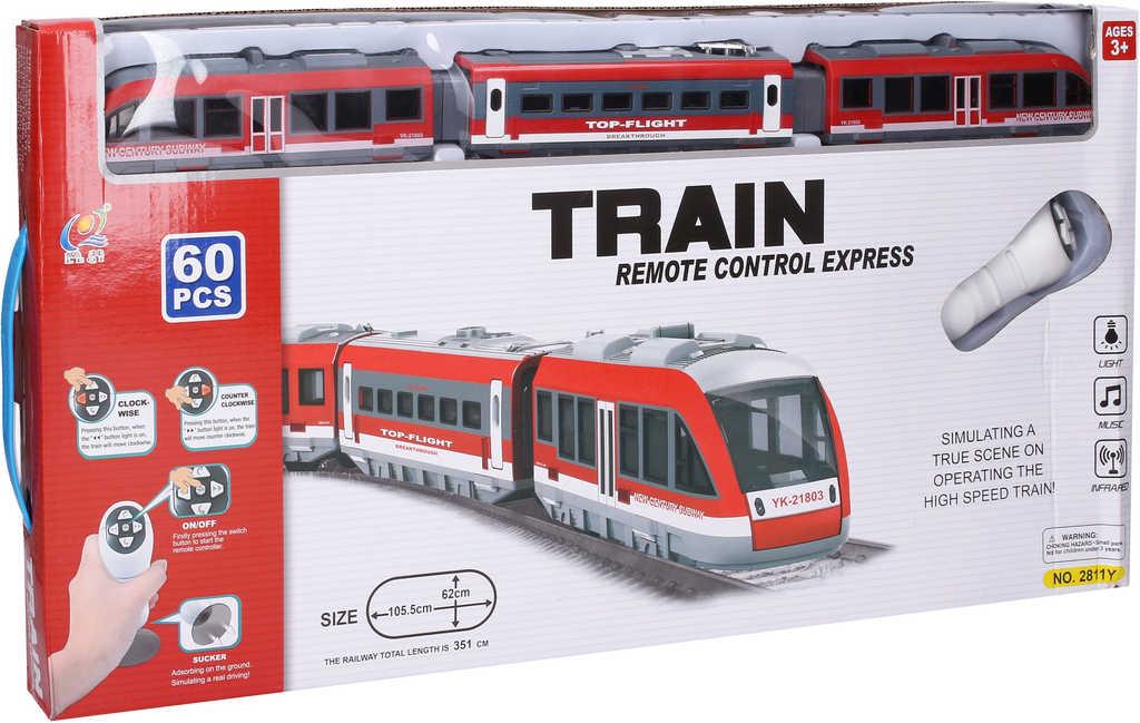 RC Vlak metro set s dráhou a doplňky na vysílačku na baterie Světlo Zvuk