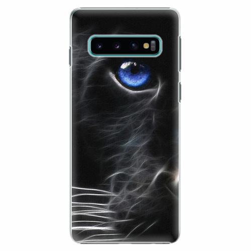 Plastový kryt iSaprio - Black Puma - Samsung Galaxy S10