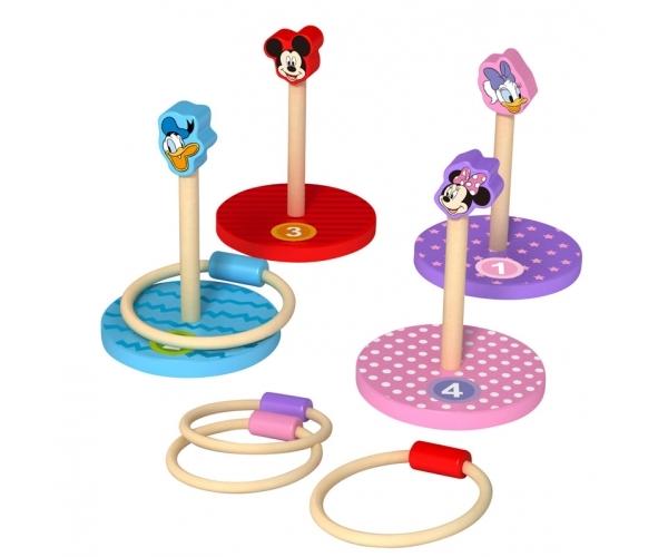 Dřevěné Disney házecí kroužky Mickey a přátelé, výška 26 cm.