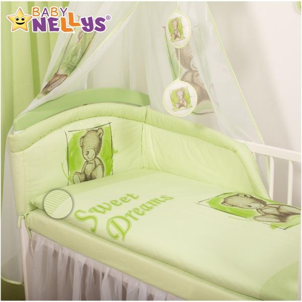 Baby Nellys Mantinel s povlečením Sweet Dreams by Teddy - zelený - 120x90