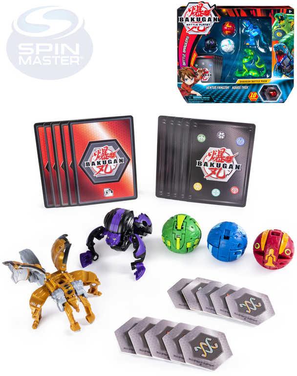 SPIN MASTER Bakugan 5ks set s hracími kartami a destičkami různé druhy