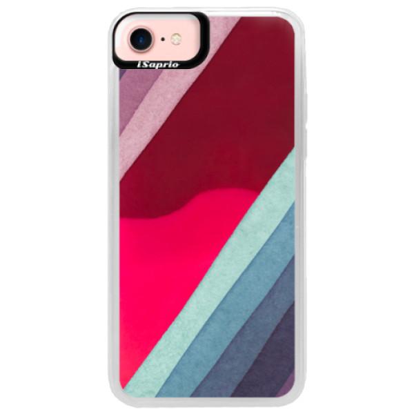 Neonové pouzdro Pink iSaprio - Glitter Stripes 01 - iPhone 7