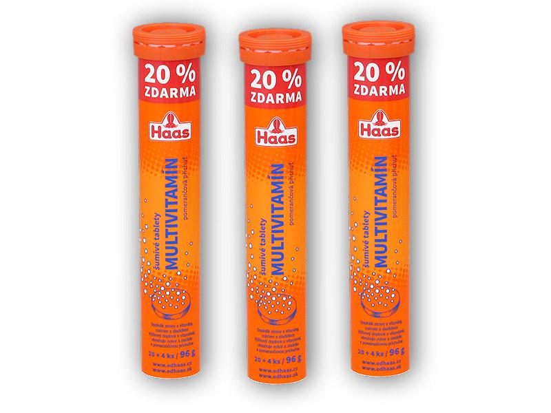 3x Haas Multivitamin 24 šumivých tb. pomeranč