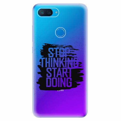 Silikonové pouzdro iSaprio - Start Doing - black - Xiaomi Mi 8 Lite