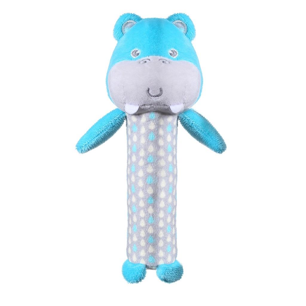 Plyšová pískací hračka Baby Ono - Hippo Marcel - modrá