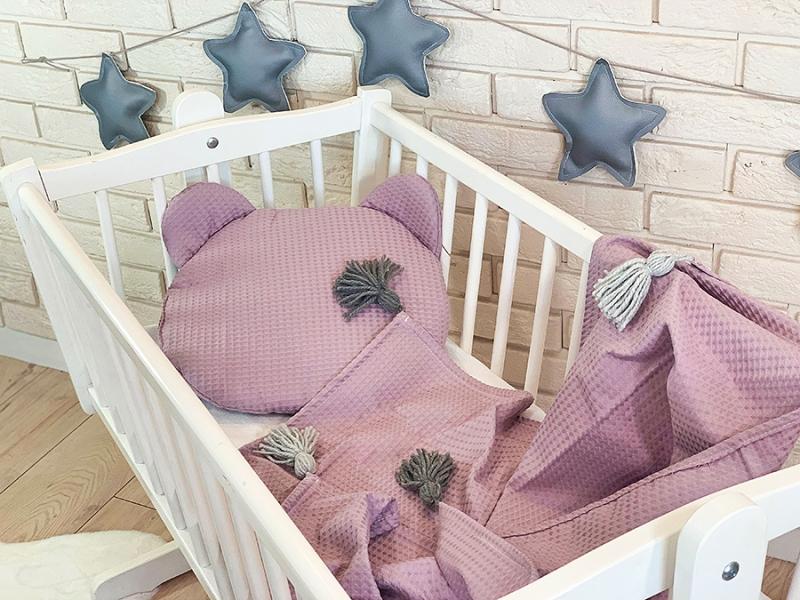 baby-nellys-detska-vaflova-2-dilna-sada-medvidek-pastelove-ruzova