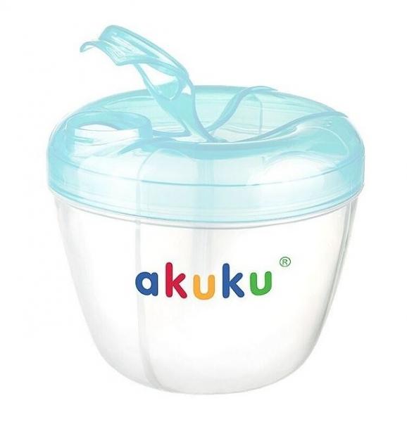 Dávkovač sušeného mléka v prášku AKUKU - modrý
